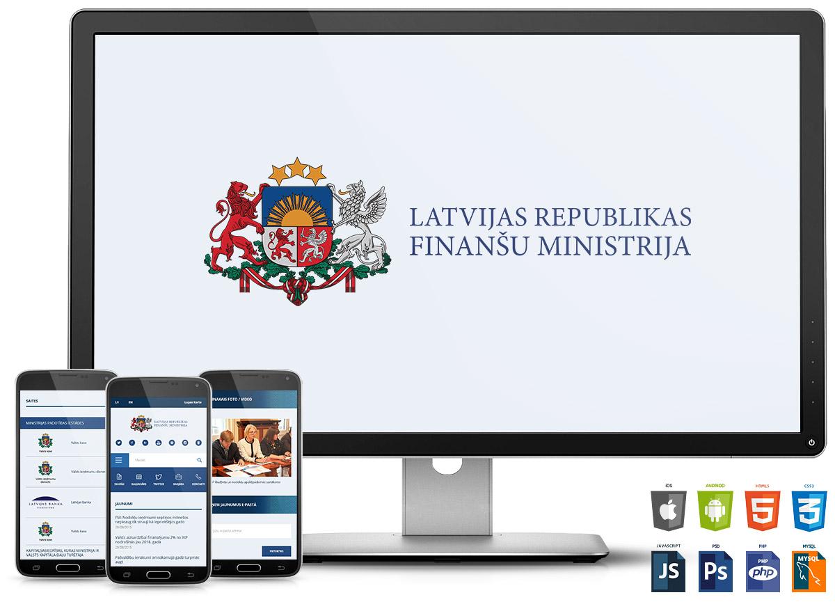Мобильная версия сайта Министерства финансов