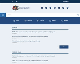 Finanšu ministrijas mājas lapas mobilā versija